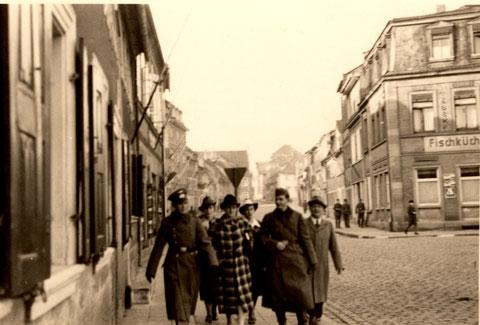 Blick iin die Wolfsgasse 1939