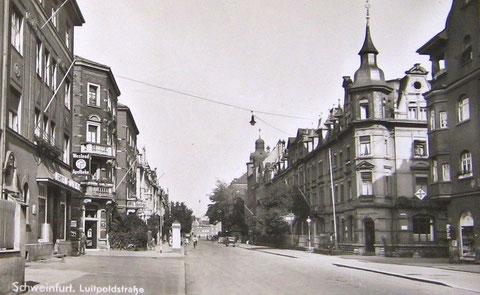 Luitpoldstraße / Höhe Sattlerstraße Schweinfurt - vor 1943