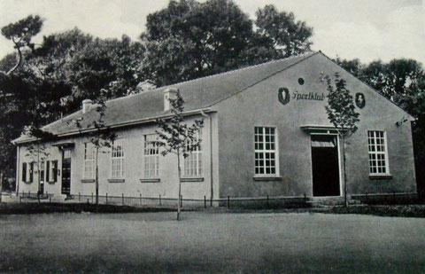 Neubau des Sportheims im Jahr ca. 1935
