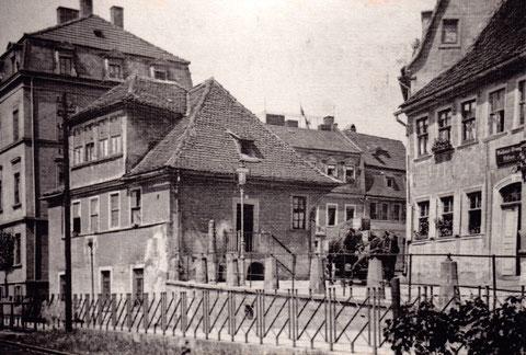 Das alte Schlachthaus (nahe der heutigen Weinstube Hess, an dem sich einst die erbosten Fischer versammelten