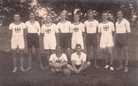 Teilnehmer der TG an der Bezirksmeisterschaft in Würzburg 1922