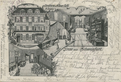 Brückenstraße 17 Cafe und Weinwirtschaft Scipio um 1920