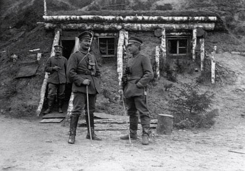 Russland, August 1917 mit 1. Zugführer, Bat. Schweinfurt