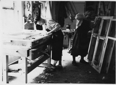 Wolfsgasse 5 - Valentin Uhl in der Werkstatt Wehner & Decker - Danke an Frau Ursula Mayert