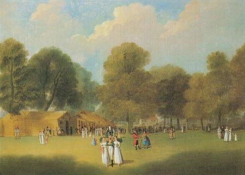 Auf dem Vogelschuss, Gemälde Katharina Sattler, geb.Geiger, Städt. Sammlungen