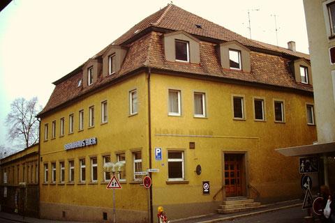 Cafe - Hotel Beier in der Rückertstraße 1991 - Foto Rudolf Steiche