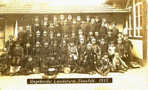 Ungedienter Landsturm Sennfeld 1915