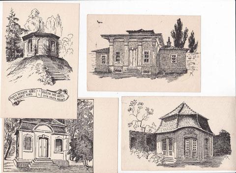 Ansichtskarte - Schweinfurter Gartenhäuschen