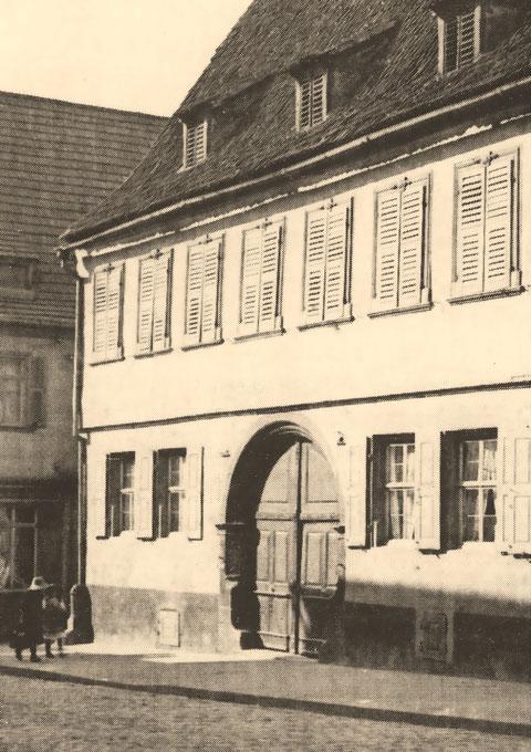 Die Reichsvogtei (Obere Straße 11, erbaut 1576/77) vor dem Zweiten Weltkrieg