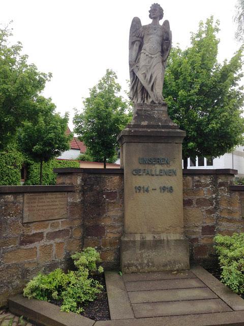 Das Kriegerdenkmal vor dem Kirchplatz
