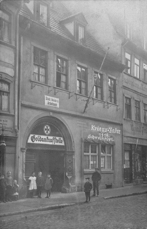 Brückenstraße 12, rechts Buchbindermeister Pröschel (10), 1918
