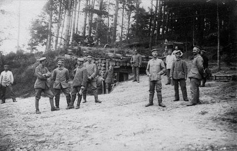 Waldstellung der Schweinfurter in Russland August 1917