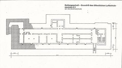 Kellergrundriss Goethebunker
