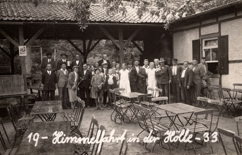 """Himmel und Hölle zusammen - In der """"Hölle"""" an Himmelfahrt im Jahr 1933 - Danke an Volker Winter"""