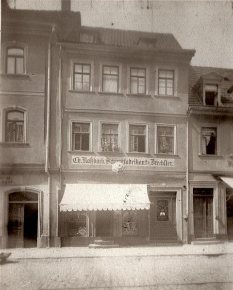 Rückertstraße 1,  ca. 1908, Christof Roßbach, Drechslermeister und Schirmfabrikant