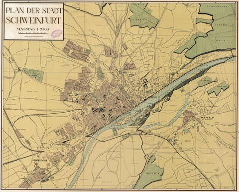 Stadtplan aus dem Adressbuch 1938 - bitte durch Anklicken vergrößern!
