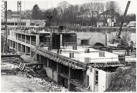 Bau des Leopoldinakrankenhauses 1980