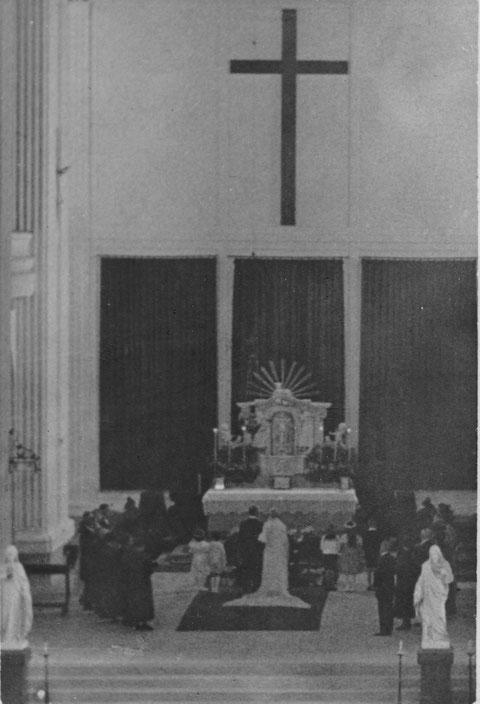 Trauung in der alten Kilianskirche in den 1930ern