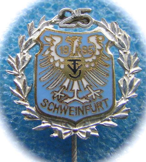 Anstecknadel zum 25. Jubiläum im Jahre 1922