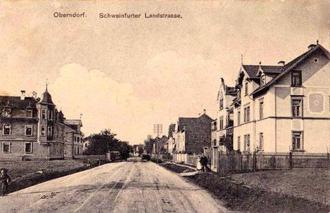 Schweinfurter Landstraße, wie sich einst die Hauptstraße in Oberndorf nannte......