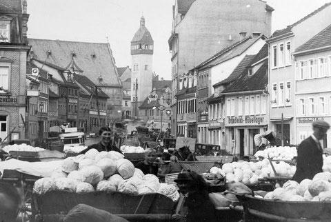 Roßmarkt Ausschnitt von oben
