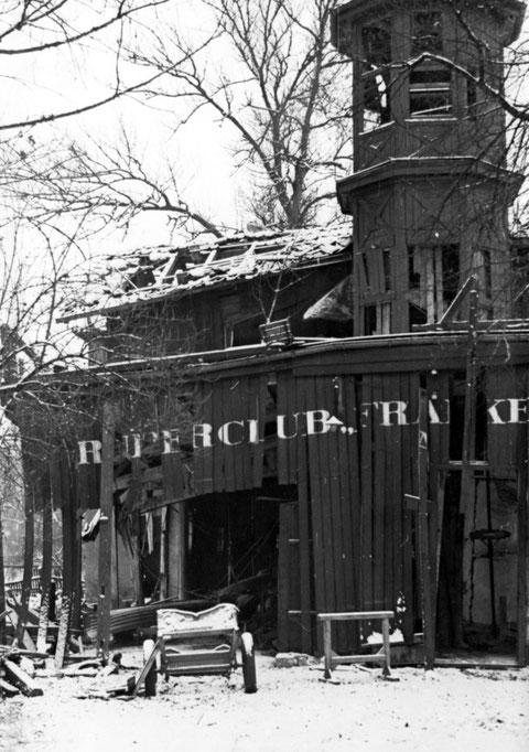 24. 02. 1944 - Das Ende des Bootshaus - getroffen bei einem Bombenangriff