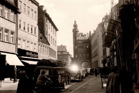 Spitalstraße Sommer 1959 nach Rathausbrand