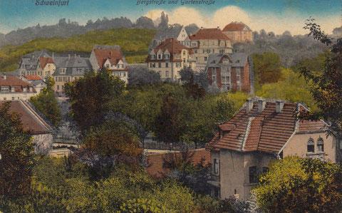 Bergstraße mit Gartenstraße ca. 1916