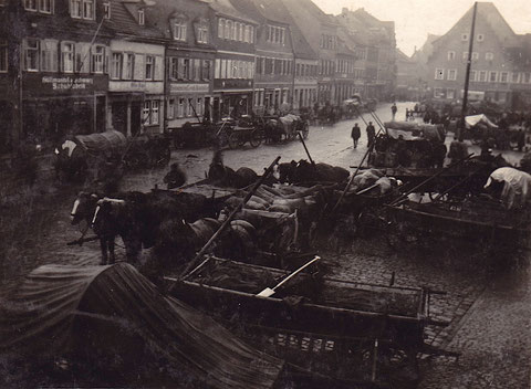 Am Kornmarkt in den 1920ern
