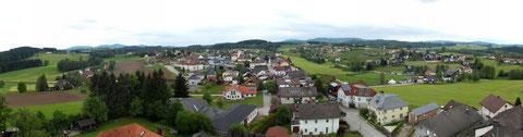 Panorama 22 Meter über dem Stehrerhof (Zum vergrößern auf Bild klicken!)