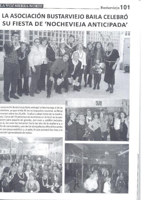 REVISTA LA VOZ DE LA SIERRA FIESTA DE NOCHEVIEJA ANTICIPADA AÑO 2009
