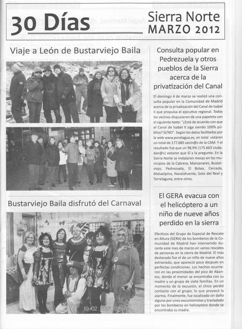 BUSTARVIEJOBAILA EN LA VOZ DE LA SIERRA NORTE MARZO 2012