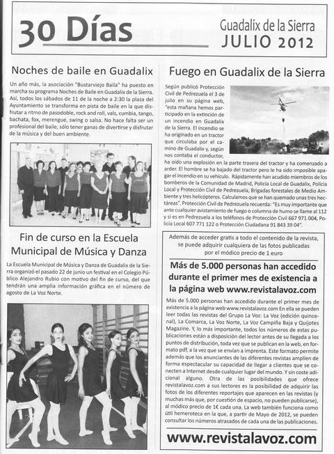 REVISTA LA VOZ DE LA SIERRA NORTE JULIO 2012.