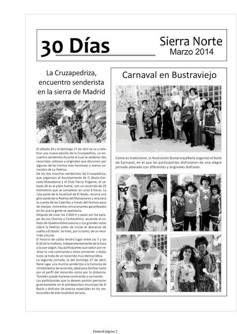 CARNAVAL 2014 BUSTARVIEJOBAILA EN LA  VOZ DE LA SIERRA NORTE