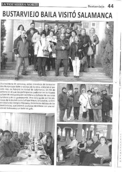 EL VIAJE A SALAMANCA DE BUISTARVIEJOBAILA EN LA VOZ DE LA SIERRA NORTE  FEBRERO 2010