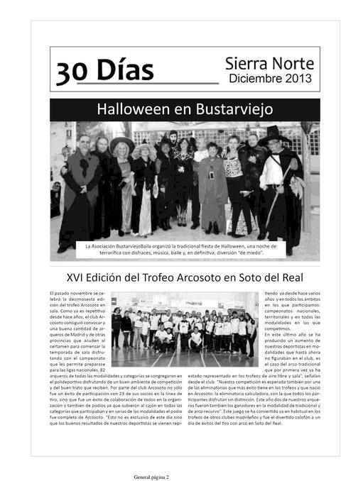 LA VOZ DE LA SIERRA NORTE PUBLICA LA FIESTA DE HALLOWEEN DE BUSTARVIEJOBAILA 2013