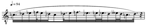Score derived from the quarter-tone discretization.