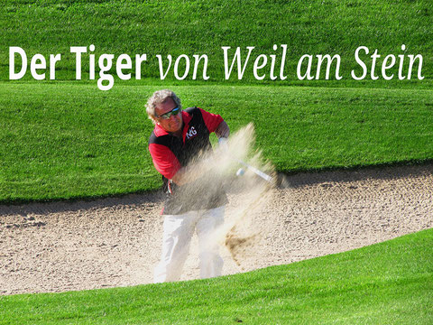 Golfer im Sandbunker, Foto Rainer Sturm