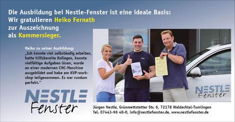 Personal-Anzeigenwerbung für Handwerksbetrieb in Waldachtal. Gesamtkonzept Rainer Sturm