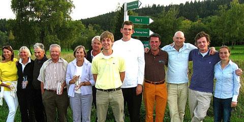 Sieger und Platzierte. Clubmeisterschaft 2009. Golf-Club Freudenstadt. Foto Rainer Sturm stormpic.de