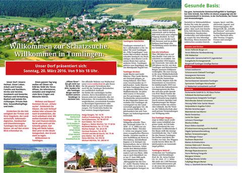 Schatzsuche in Waldachtal-Tumlingen. Der Aktionsprospekt.