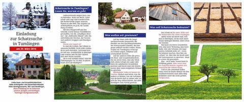 Werbung für die Dorfgemeinschaft Tumlingen. Text. Gestaltung. Fotos. Druck.