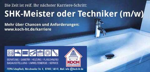 Personal-Anzeigenwerbung für Handwerksbetrieb in Schopfloch. Gesamtkonzept Rainer Sturm