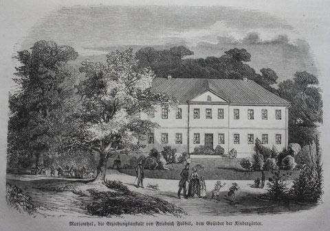 Holzschnitt auf Original-Blatt aus der Illustrierten Zeitung ( Leipzig 1853 ), Format ca. A 5 - Besitz Volker Henning