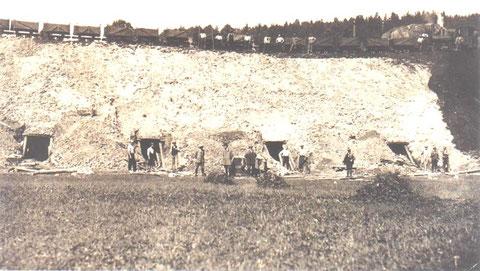 """rechts oben der """" Lange Felsen """" vom Altensteiner Plateau - Archiv Bernd Grollmitz"""