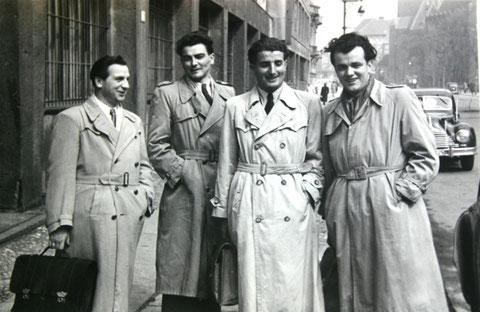 Hans Proft, Helmut Saal, Kurt Hilpert und Alfred Winges v.l. - Foto im Besitz Frau Winges
