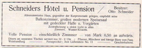 Anzeige von 1914 - Archiv W.Malek