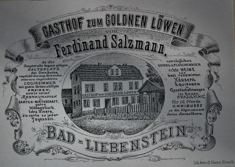 Goldener Löwe vor dem großen Brand und vor 1888 - Archiv W.Malek