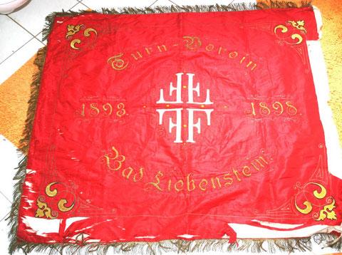 Fahnenweihe 1898 des Turnverein Germania, gegründet 1893 -  FFFF - Frisch Fromm Froh Frei - Besitz W.Malek