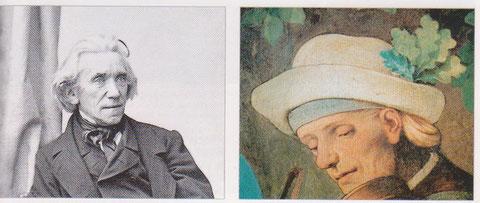 Buchillustrator Ludwig Richter im Lüftelbild dargestellt